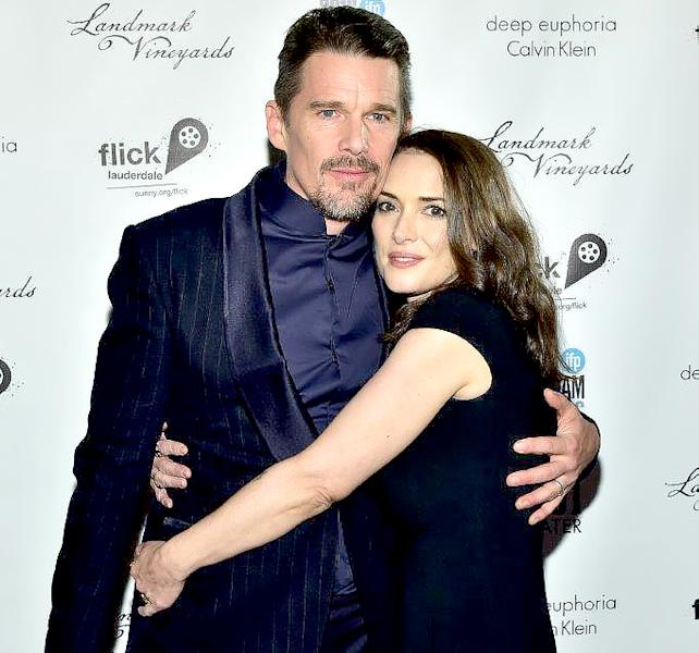 Reality Bites Reunion! Winona Ryder and Ethan Hawke Hug it Out At the Gotham Awards in NYC. Plus more Celebrity Sightings!