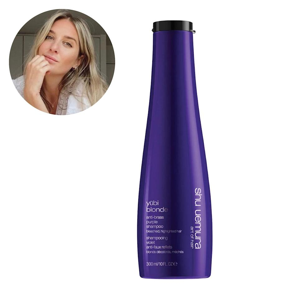 "I am obsessed with this formula if I need instant results or if I want to lighten my hair again in between salon visits. I will note that I tread very lightly when using this product because my hair is fragile; the phrase ""a little bit goes a long way"" is something I live by. I love this shampoo because it helps reduce any brassiness after one use and is one of the best shampoo scents in my shower right now. <em>—A.F.</em> $49, Shu Uemura. <a href=""https://shop-links.co/1735086214051778120"" rel=""nofollow noopener"" target=""_blank"" data-ylk=""slk:Get it now!"" class=""link rapid-noclick-resp"">Get it now!</a>"
