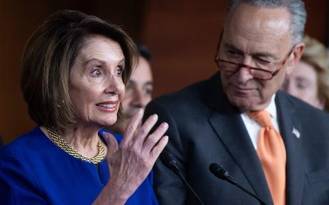 Nancy Pelosi and Chuck Schumer, the most senior Democrats in the House of Representatives and Senate, gave their own press conference after talks collapsed