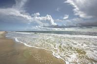 <p>Clear water and blue skies add to the scenery at Hilton Head Island in South Carolina.</p>