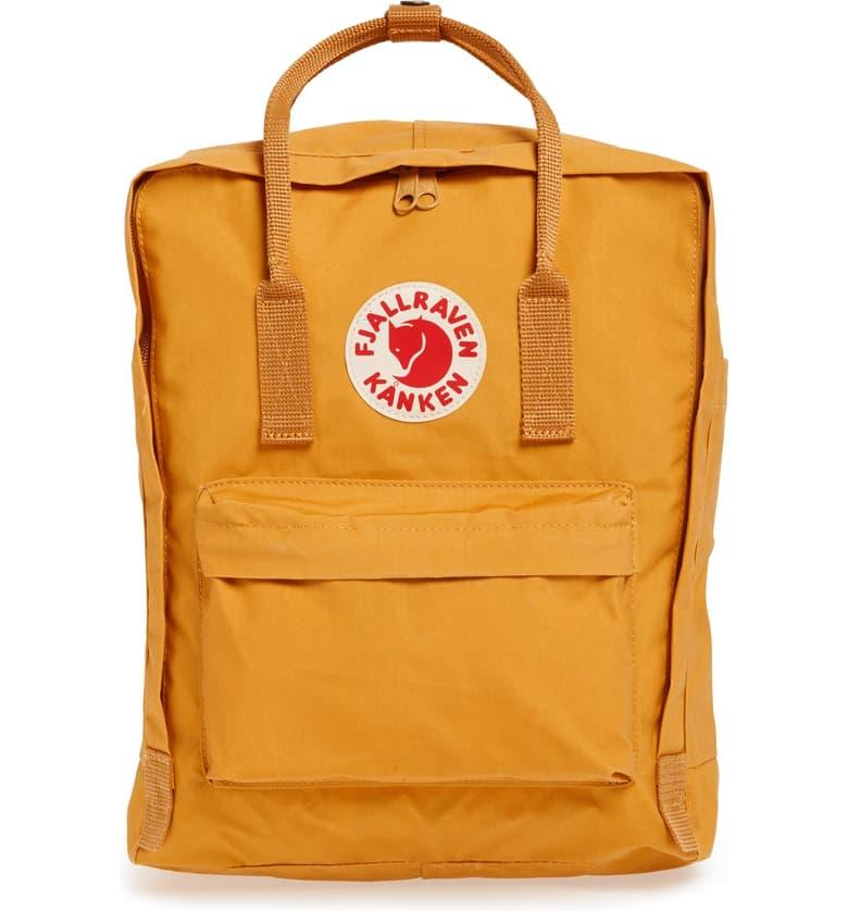 Fjällräven Kånken Water Resistant Backpack in ochre
