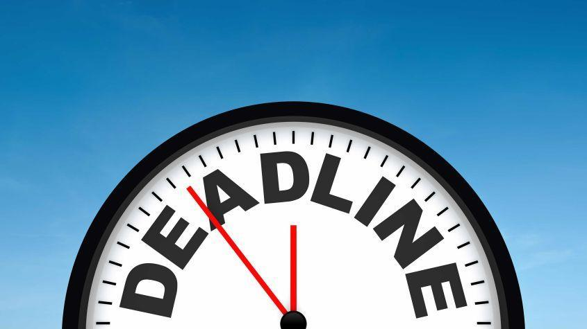 picture of a deadline clock