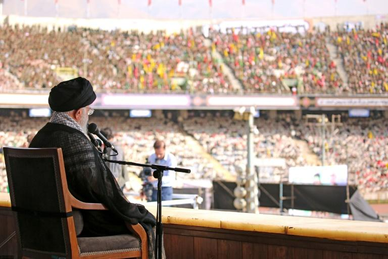 Iran's Supreme Leader Ayatollah Ali Khamenei addressed tens of thousands of members of Iran's Basij militia at a stadium in Tehran in early October