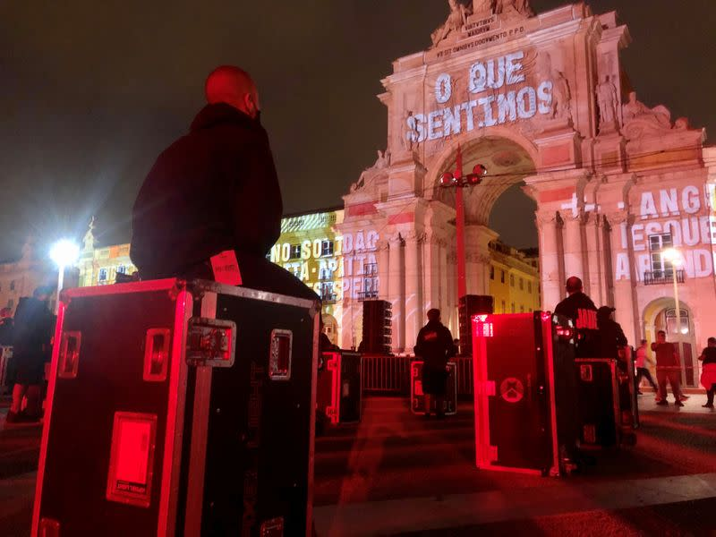 Struggling live-event workers protest in Lisbon to save pandemic-hit sector