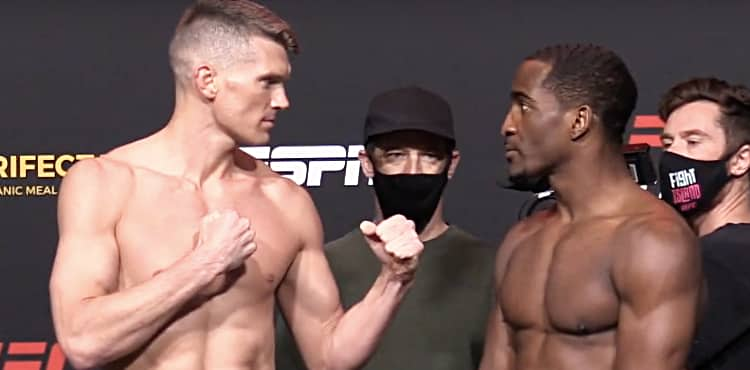 Ufc Vegas 17 Thompson Vs Neal Weigh In Face Offs