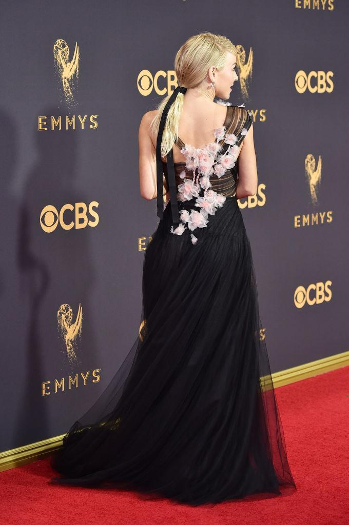 The back of Julianne Hough's gown offered a few surprises. (Photo: Getty Images)