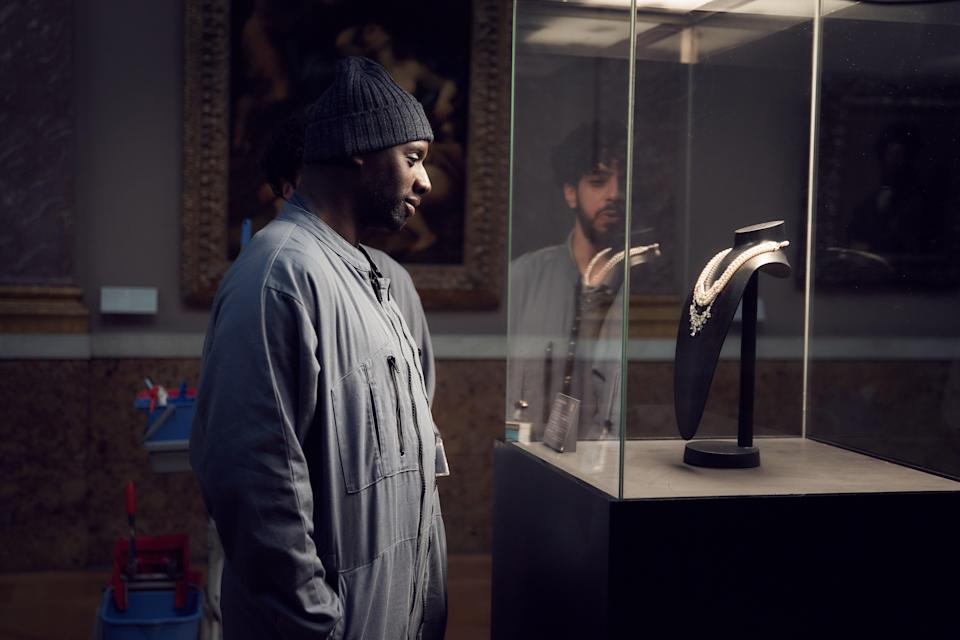 The show sparks into life when Diop gets stuck in to a heist at the LouvreNetflix