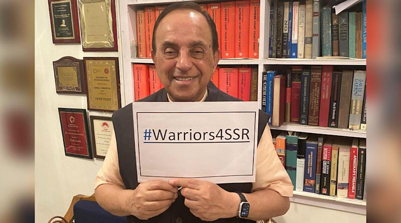 Sushant Singh Rajput Case: Subramanian Swamy Joins #Warriors4SSR Digital Protest (View Pic)