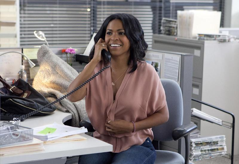 "This photo provided by Lionsgate shows Nia Long as May in a scene from Tyler Perry's film ""The Single Moms Club."" (AP Photo/Lionsgate, K C Bailey)"