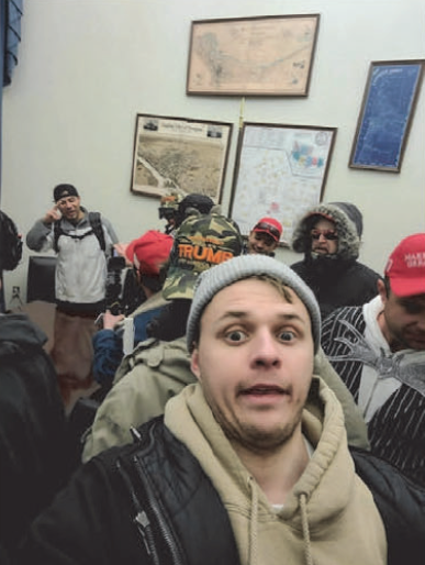 A selfie of Karol J. Chwiesiuk included in the US District Court for the District of Columbia's criminal complaint against Chwiesiuk.