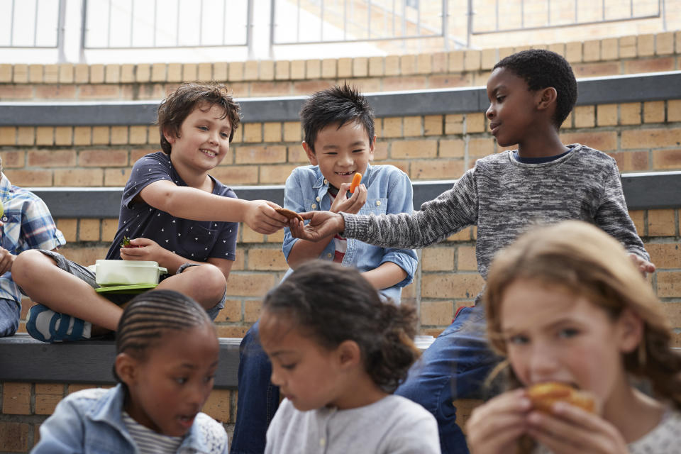 Pack your kids' lunchboxes with these tasty dishes and they won't want to swap them (posed by models, Getty)