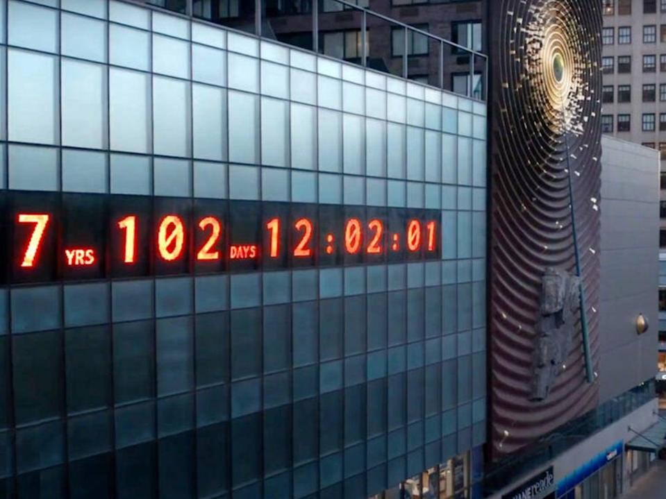 <p>The climate clock has been installed in Union Square, New York City to show just how long the planet has to prevent climate change from becoming irreversible</p> (https://climateclock.world/)