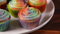 """<p>For the unicorn lovers. </p><p>Get the recipe from <a href=""""https://www.delish.com/cooking/recipe-ideas/recipes/a52135/rainbow-swirl-cupcakes-recipe/"""" rel=""""nofollow noopener"""" target=""""_blank"""" data-ylk=""""slk:Delish"""" class=""""link rapid-noclick-resp"""">Delish</a>.</p>"""