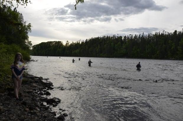 Many prime Newfoundland salmon rivers are in areas that are in Alert Level 4, but the president of the Salmonid Association of Eastern Newfoundland says it will be a couple of weeks before the fish really start coming into the area. (Submitted by Ralph Hiscock - image credit)