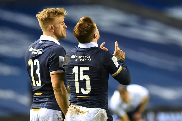 Scotland captain Stuart Hogg scored two tries in the 25-24 defeat by Wales