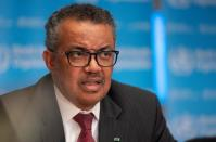 FILE PHOTO: Director-General of WHO Tedros attends news conference in Geneva