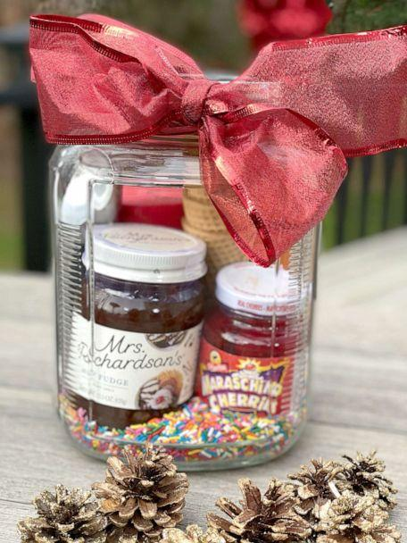 PHOTO:  Lifestyle expert Melissa Garcia shares ideas for making last-minute Christmas gift baskets for a spa moment, kids, college students, ice cream lovers and movie buffs on the Dec. 25, 2020 episode of 'Good Morning America.'  (Courtesy Melissa Garcia)