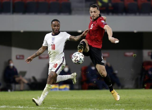 Albania struggled to gain a foothold in the match in Tirana