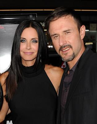 """Courteney Cox and David Arquette are all smiles at the premiere of """"Scream 4"""" held at Grauman's Chinese Theatre in Hollywood, Calif. on April 11, 2011  -- Getty Images"""