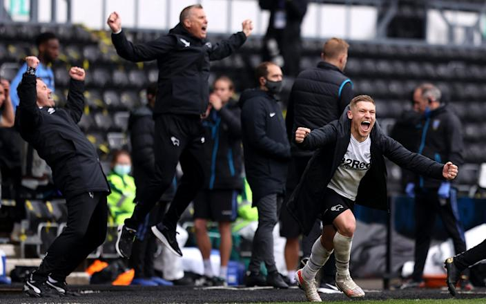 Derby survive after late Martyn Waghorn penalty keeps Wayne Rooney's men in the Championship - Alex Pantling/Getty Images