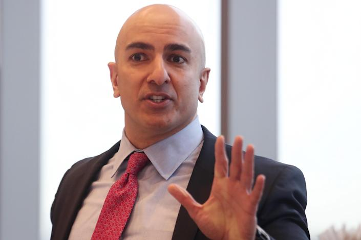 President of the Federal Reserve Bank on Minneapolis Neel Kashkari speaks during an interview in New York, U.S., March 29, 2019. REUTERS/Shannon Stapleton
