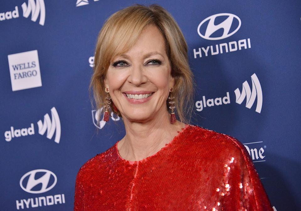 Allison Janney arrives at the 30th Annual GLAAD Media Awards held at the Beverly Hilton in Beverly Hills, CA on Thursday, March 28, 2019. (Photo By Sthanlee B. Mirador/Sipa USA)
