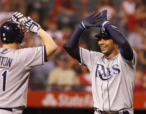 Rays rally from 8 runs down to beat Angels 10-8