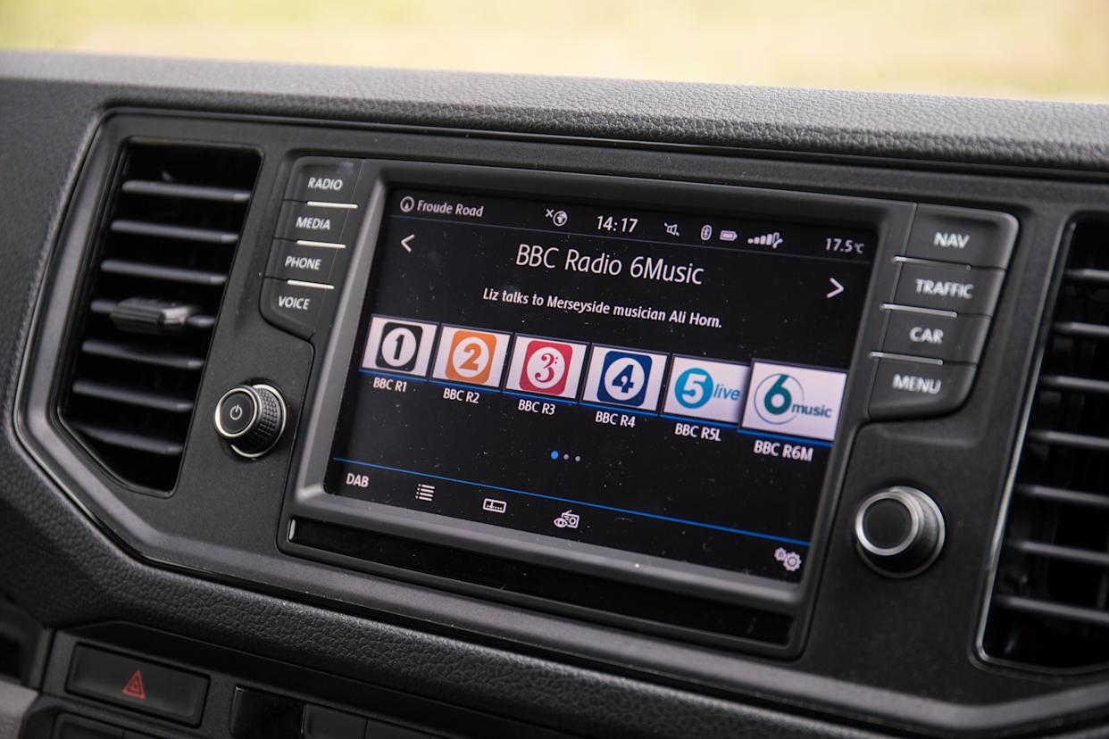 The main infotainment setup is clear and easy to use