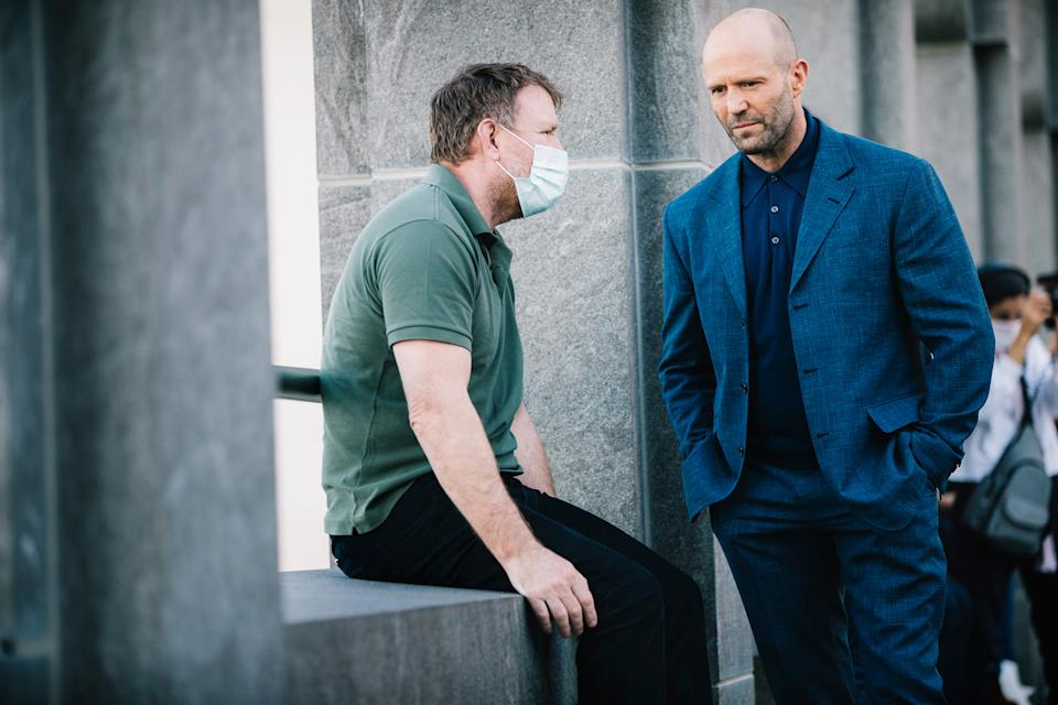 Guy Ritchie and Jason Statham on location in Qatar's capital city, Doha (Julien Scussel & QNTC)