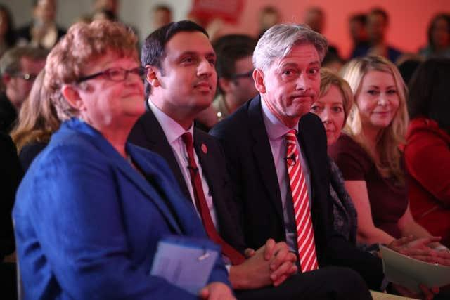 Anas Sarwar and Richard Leonard at the leadership election announcement