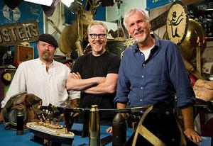 Jamie Hyneman, Adam Savage and James Cameron | Photo Credits: Don Feria/Discovery Channel