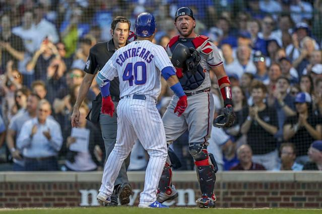 Willson Contreras sends message to Braves catcher Tyler Flowers and announcer Jeff Francoeur in Cubs' 8-3 win