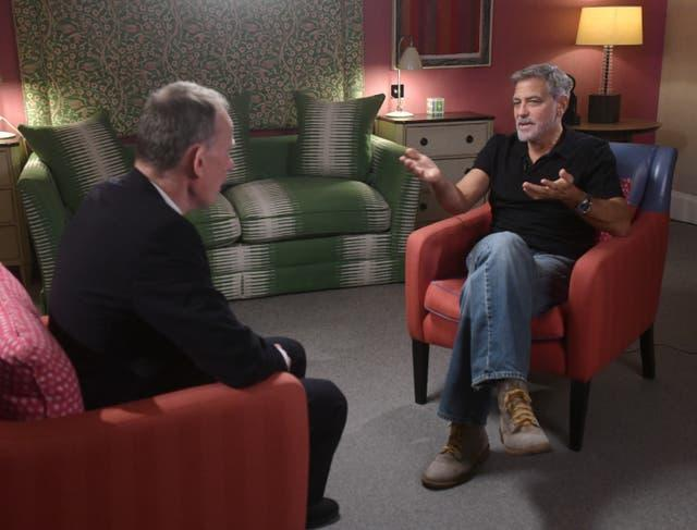 George Clooney on The Andrew Marr Show