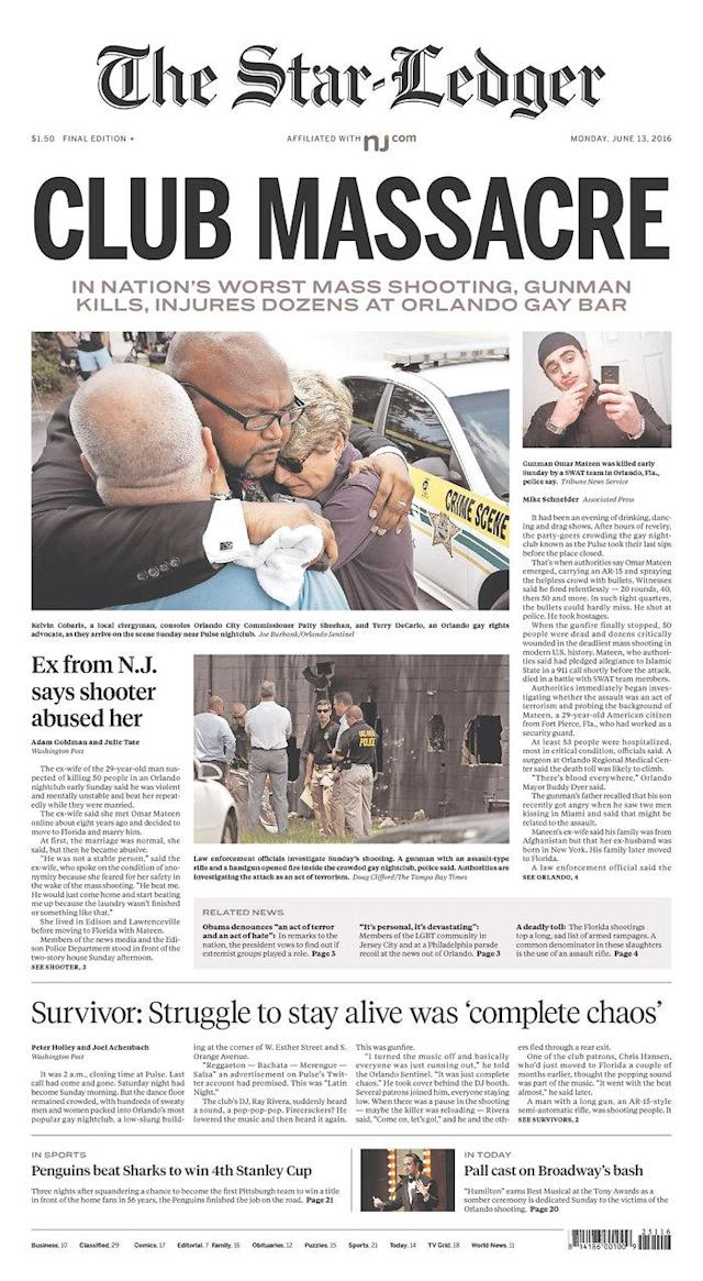 <p>The Star-Ledger<br> Published in Newark, N.J. USA. (newseum.org) </p>