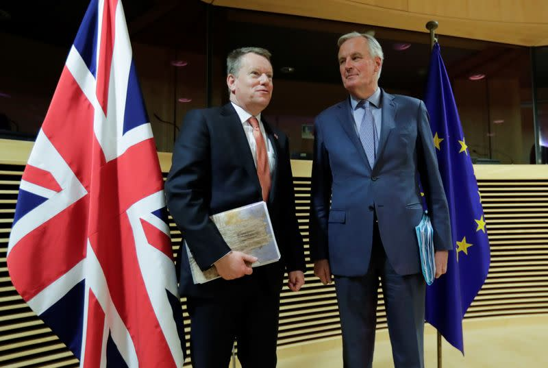 UK says a lot of work still to do in Brexit talks