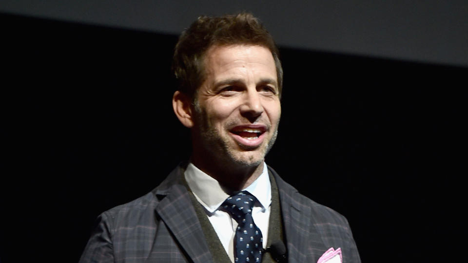 Zack Snyder speaks at CinemaCon on March 29, 2017. (Photo by Alberto E. Rodriguez/Getty Images for CinemaCon)