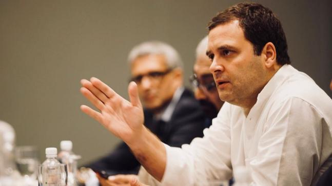 "In his interaction with Indian-origin entrepreneurs in Singapore, Rahul Gandhi pitched a new ""Congress party"" that ""envisions values you were born with""."