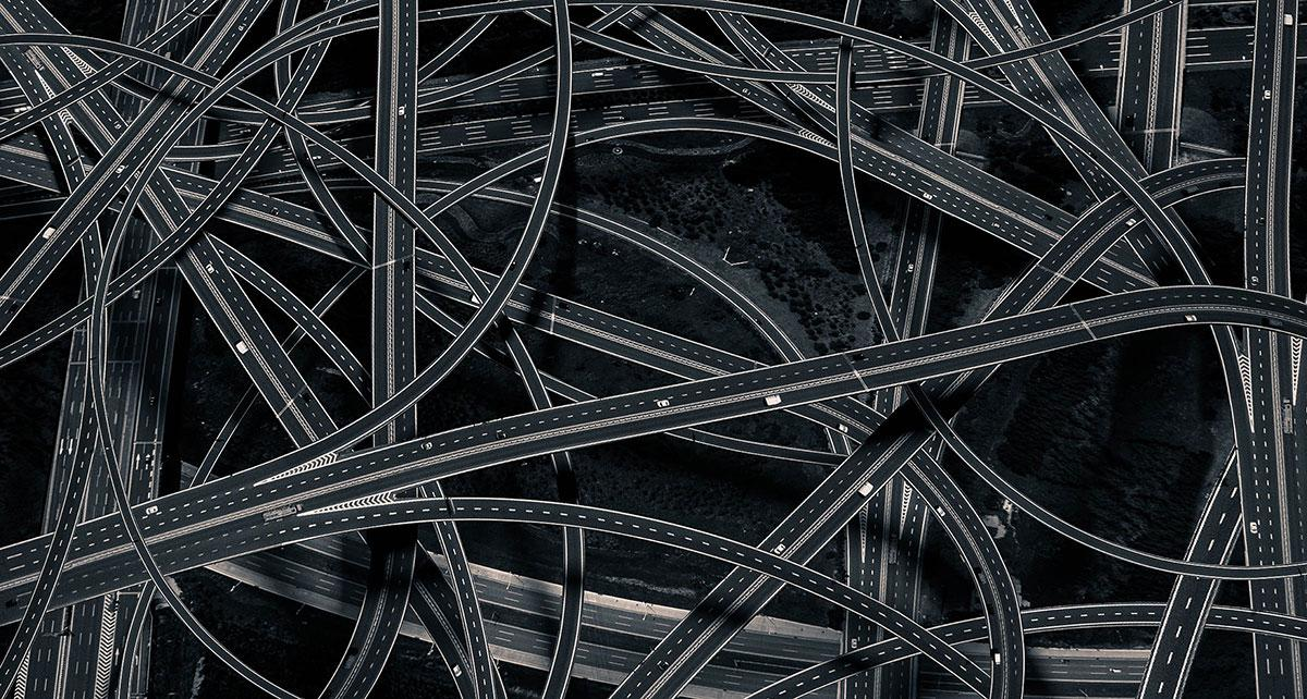 <p>The winner of the architecture prize was photographer Dongni, who took this picture of a tangle of streets criss-crossing over each other, (Dongni) </p>