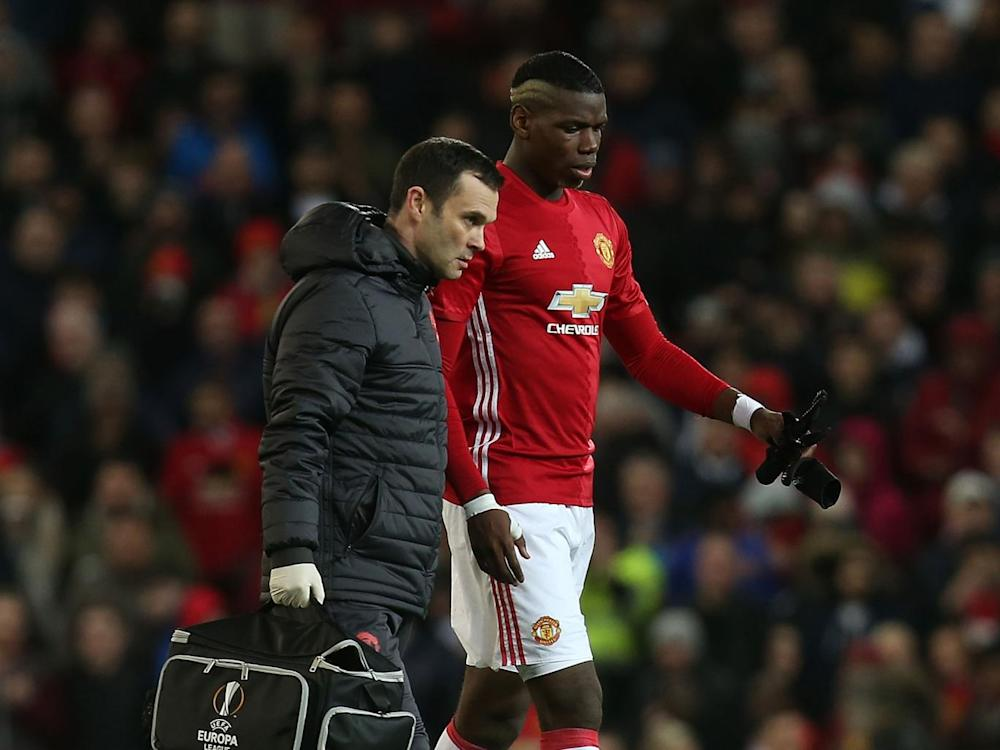 Paul Pogba is out for an unspecified amount of time (Getty)