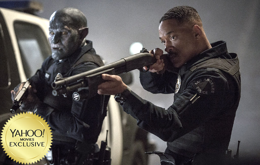 "<p><a rel=""nofollow"" href=""https://www.yahoo.com/movies/tagged/david-ayer"">David Ayer</a>'s thriller stars <a rel=""nofollow"" href=""https://www.yahoo.com/movies/tagged/will-smith"">Will Smith</a> as a cop who teams up with an Orc (<a rel=""nofollow"" href=""https://www.yahoo.com/movies/tagged/joel-edgerton"">Joel Edgerton</a>) in an alternative-reality version of L.A. where fantastical creatures dwell alongside humans. Think <em>Beverly Hills Cop</em> meets <a rel=""nofollow"" href=""https://www.yahoo.com/movies/film/the-lord-of-the-rings""><em>The Lord of the Rings</em></a>. 