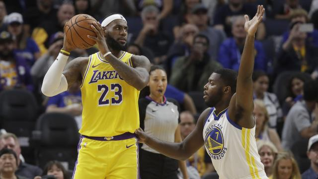 Golden State Warriors rookie Eric Paschall guard Los Angeles Lakers superstar LeBron James