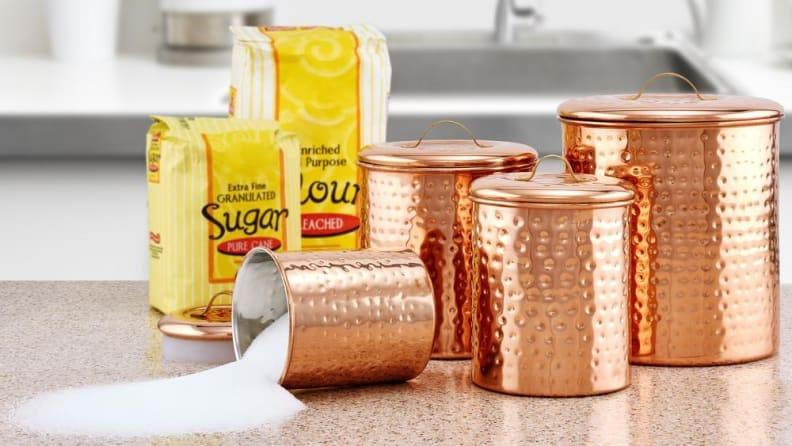 Stashing your dry goods in canisters is the epitome of