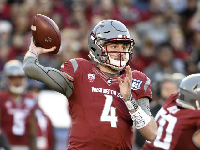 NFL scouts consider Washington State quarterback Luke Falk a potential first-round pick in the 2018 draft. (AP)