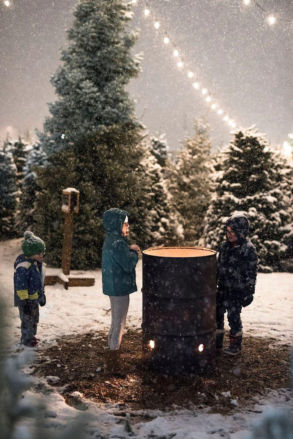"""<p><strong>Riverton, Utah</strong> (November 23-December 23)</p><p>The <strong><a href=""""https://petersenfamilyfarm.com/pages/contact-us"""" rel=""""nofollow noopener"""" target=""""_blank"""" data-ylk=""""slk:Petersen Family Farm"""" class=""""link rapid-noclick-resp"""">Petersen Family Farm</a> </strong>has it all: Santa, homemade hot chocolate, and interactive wagon rides. On November 20 and 21, head to the farm for a holiday wreath workshop, one of the many opportunities available this season. And when you go, pick up a bag of their home-grown """"Microwavable Popcorn on the Cob"""" to remember your visit. </p>"""