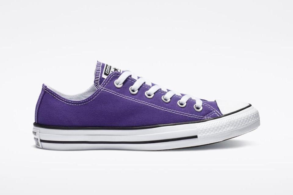 converse, chuck taylor all star, purple sneakers