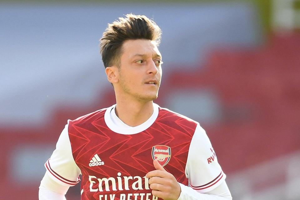 <p>Exile: Mesut Ozil has not played for Arsenal since March</p> (Arsenal FC via Getty Images)