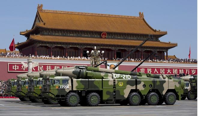 The DF-21D anti-ship ballistic missiles can potentially sink an aircraft carrier. Photo: AP