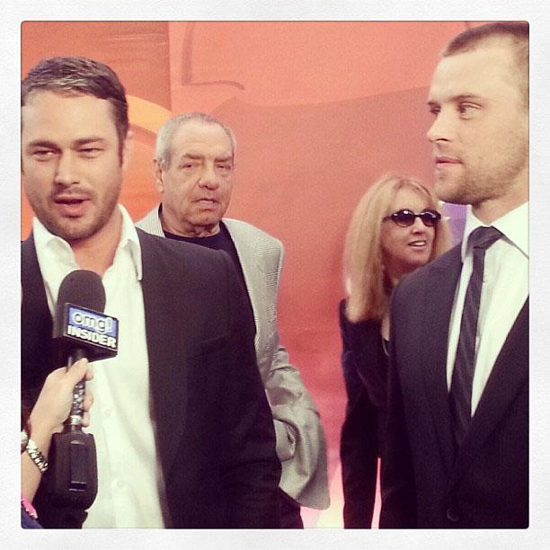 NBC #Upfronts with Taylor Kinney and Jesse Spencer from #ChicagoFire.