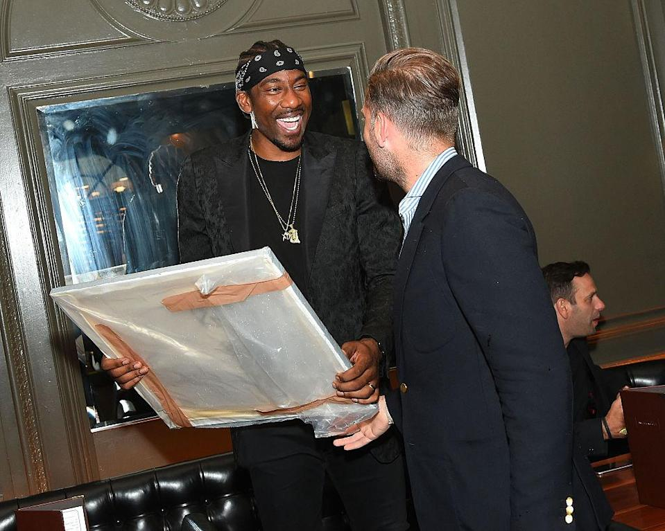 Amar'e Stoudemire attends Haute Time Celebrates Amar'e Stoudemire presented By Avion Reserva 44 at American Cut on July 31, 2016 in New York City. (Ben Gabbe/Getty Images for Haute Living)