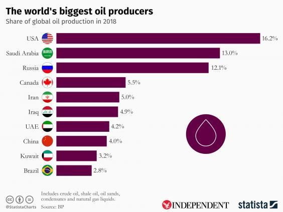 Saudi Arabia is one of the world's biggest oil producers (Statista)